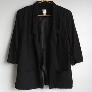 Lauren Conrad Black 3/4 Sleeve Blazer